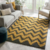Passion Chevron Gold Grey Modern Rug