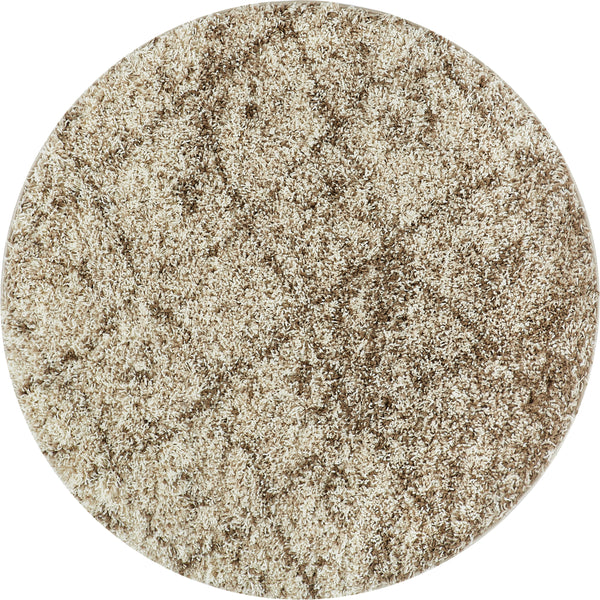 Moroccan Lattice Vanilla Contemporary Round Rug