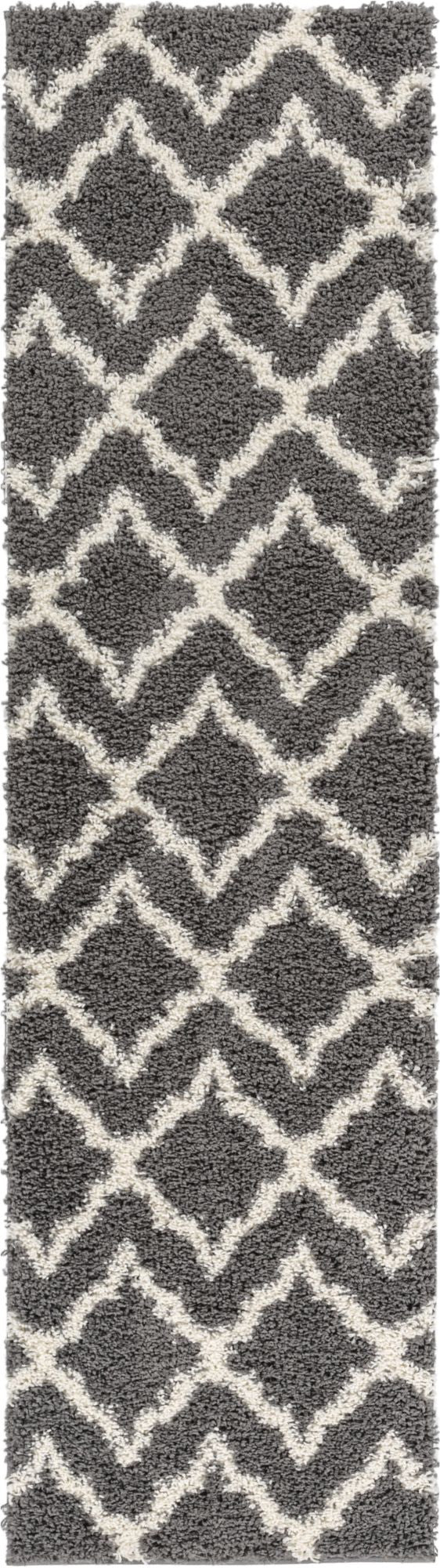 Linx Geometric Grey Modern Rug Well Woven