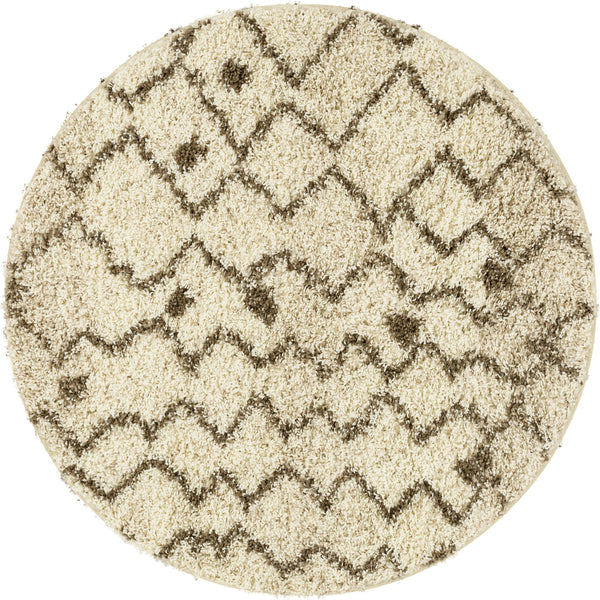 "Penta Moroccan Vanilla 3'11"" Round Rug By Chill Rugs"
