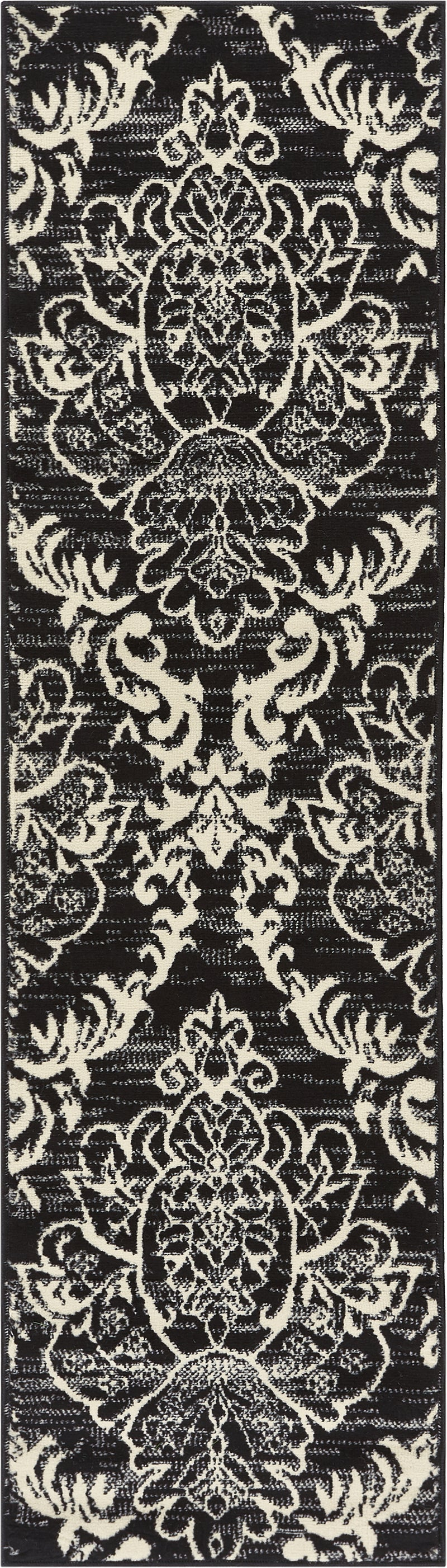 Ginger Damask Black Modern Rug