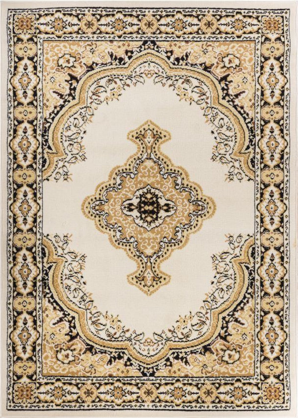 Tehran Traditional Ivory Traditional Rug