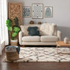 Darcie Ivory Tribal Nomadic Trellis Shag Rug By Chill Rugs