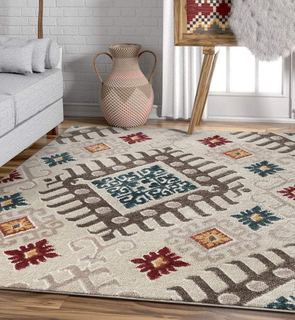 Soliloquy Natural Tribal Rug