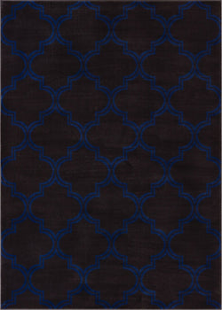 Jaclyn Charcoal Modern Moroccan Lattice Rug