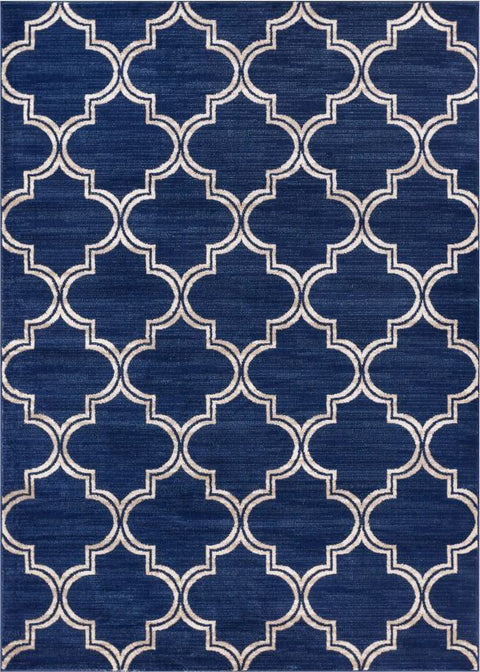 Jaclyn Blue Modern Moroccan Lattice Rug
