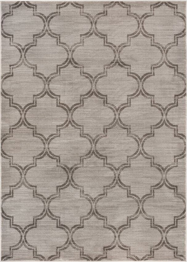 Jaclyn Grey Modern Moroccan Lattice Rug