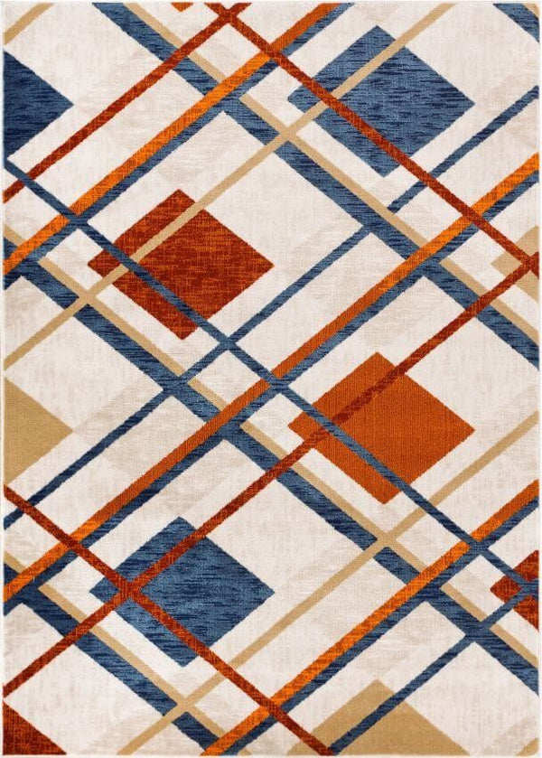 Williamsburg Tartan Beige Vintage Plaid Rug Well Woven