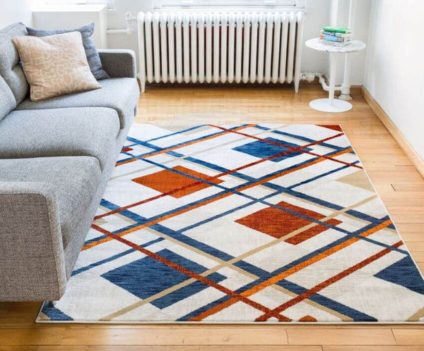 Williamsburg Tartan Beige Vintage Plaid Rug