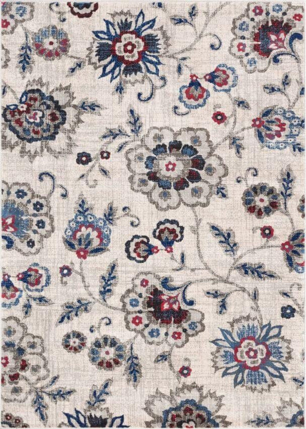 Botanical Dream Beige Vintage Floral Rug
