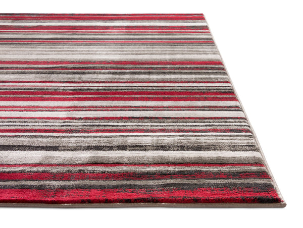 Signature Stripes Red Modern Rug