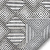Flint Mid-Century Geometric Grey High-Low Rug