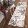Spheres Watercolor Grey Modern Geometric Rug