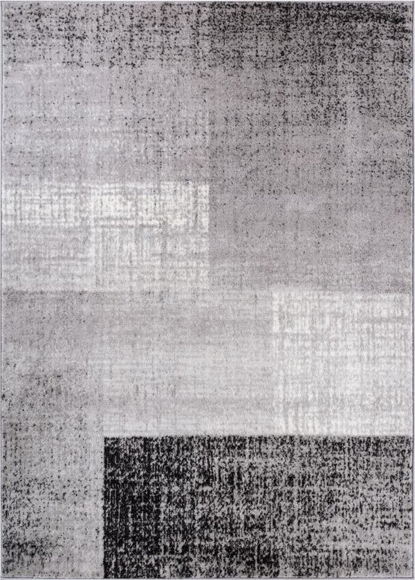 "Williamsburg Grey Modern Geometric 5'3"" x 7'3"" Rug"