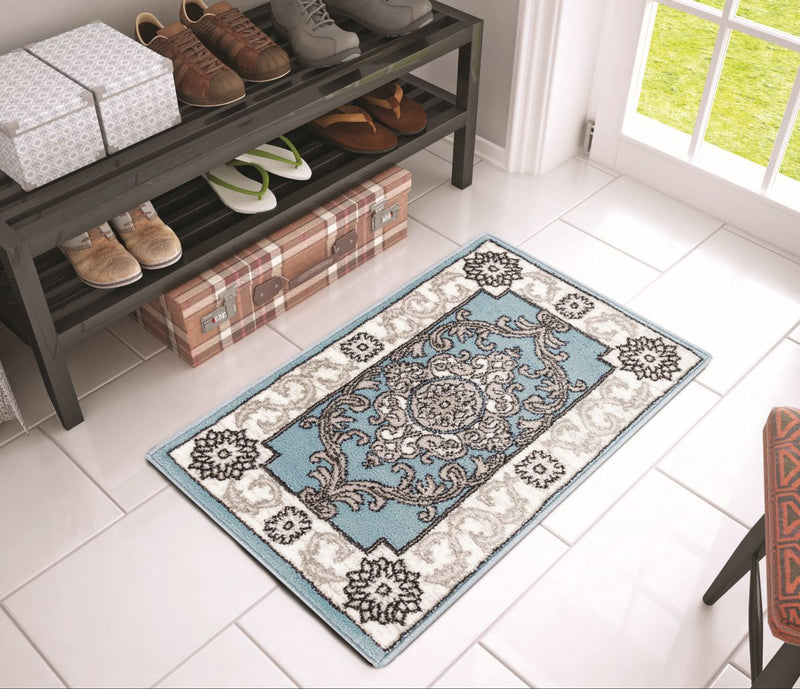 Yonderhill Blue Aubusson Medallion Rug