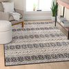 Ashley Tribal Geometric Ivory High-Low Rug