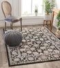 Alexis Vintage Oriental Grey High-Low Rug