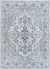 Lauren Vintage Persian Medallion Grey High-Low Rug