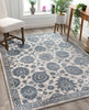 Madison Vintage Floral Ivory High-Low Rug