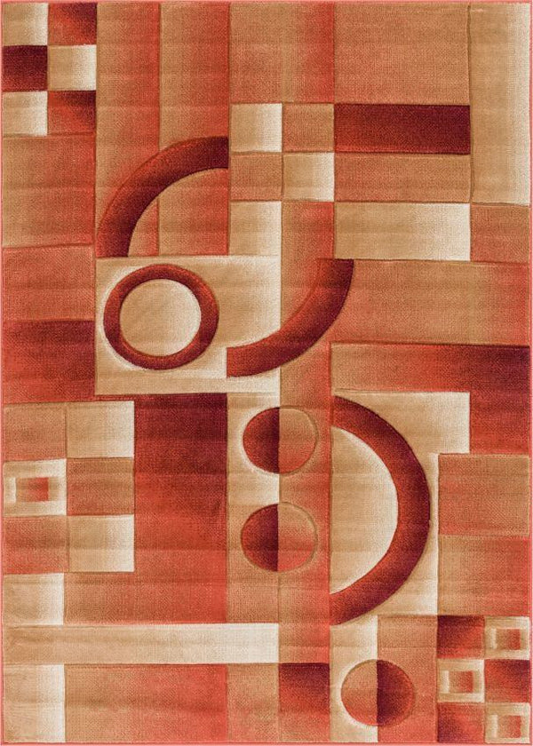 South Street Orange Modern Geometric Rug