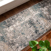 Meade Modern Abstract Distressed Grey Rug
