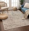 Bowen Beige Vintage Global Abstract Rug
