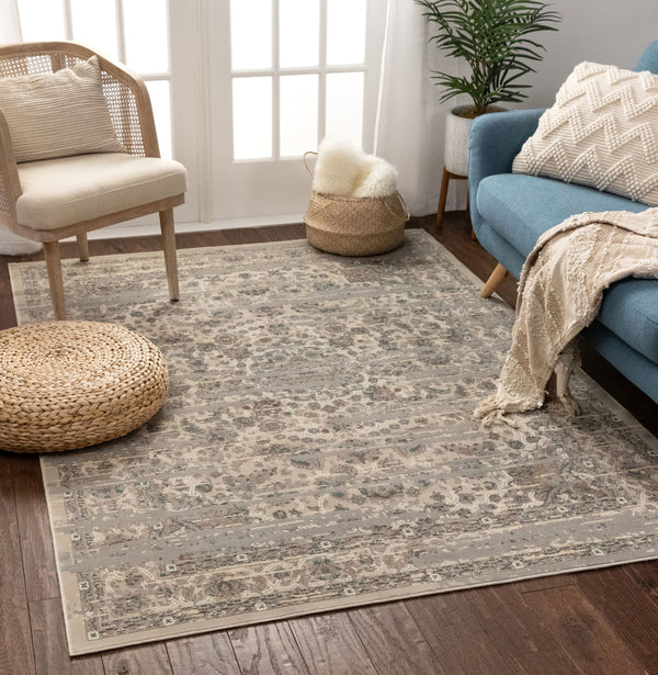 Owen Beige Vintage Global Oriental Medallion Rug