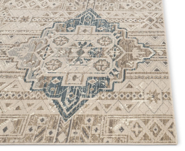 Magnolia Beige Vintage Abstract Geometric Rug