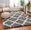 Capri Shag Trellis Lattice Grey Rug