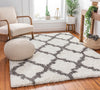 Capri Shag Trellis Lattice Ivory Rug