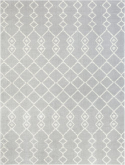 Tiller Moroccan Tribal Light Grey Rug