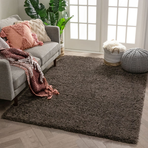 Olympic Super Soft Peppercorn Grey Modern Shag Rug