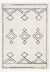 Verdant Tribal Diamond Pattern Ivory Super Soft And Thick Shag Rug
