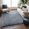 Blossom Moroccan Trellis Blue Super Soft And Thick Shag Rug