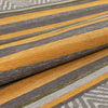 "Chia Contemporary Solid & Striped Beige Gold Kilim-Style 5'3"" x 7'3"" Rug"