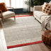 Largo Modern Abstract Geometric Pattern Red Kilim-Style Rug