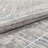 "Agma Contemporary Distressed Abstract Waves Grey Beige Kilim-Style 5'3"" x 7'3"" Rug"