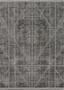 "Jato Contemporary Distressed Geometric Pattern Grey Kilim-Style 5'3"" x 7'3"" Rug"