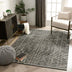 Jato Contemporary Distressed Geometric Pattern Grey Kilim-Style 5'3