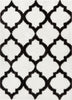 Humble White Modern Lattice Shag Rug
