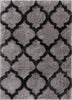 Humble Grey Modern Lattice Shag Rug