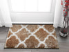 Humble Taupe Modern Lattice Shag Rug