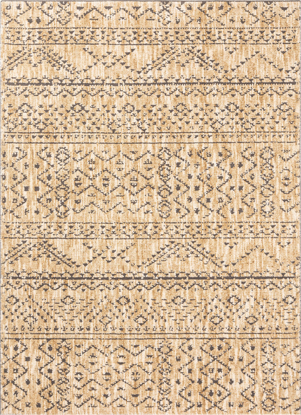 Beverly Beige Modern Vintage Distressed Rug