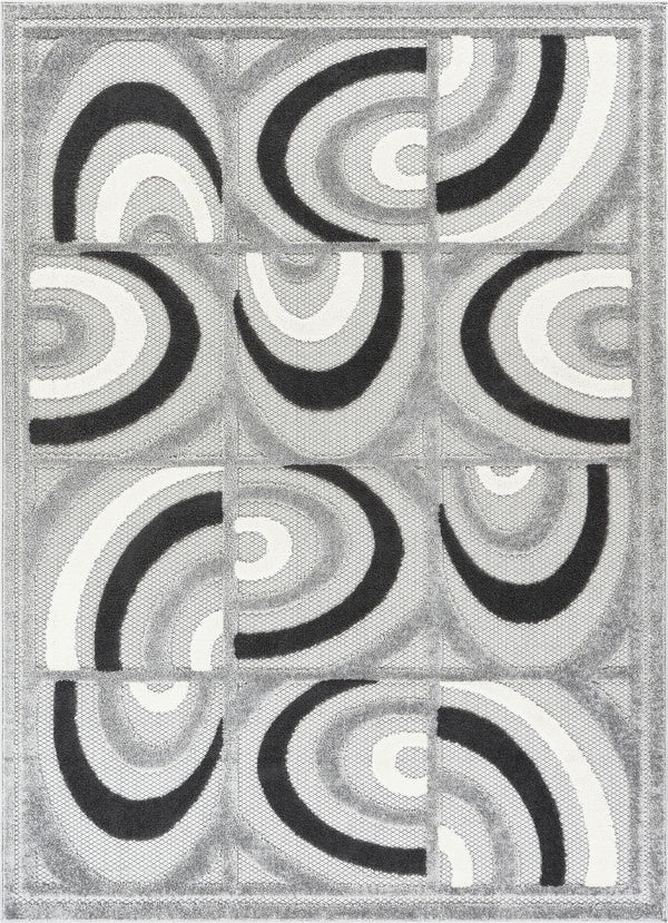 Lucente Grey Modern Indoor Outdoor Rug