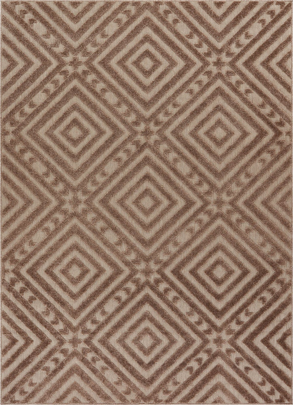 Metier Brown Modern Indoor Outdoor Rug