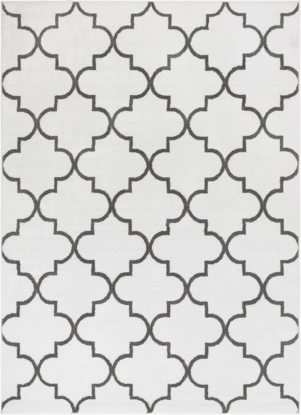 Elle's Lattice Ivory Modern Rug
