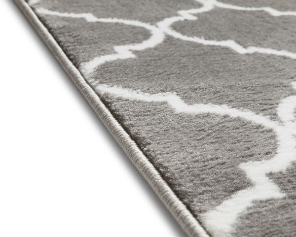 Elle's Lattice Grey Modern Rug