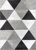 Retro Shapes Grey Modern Rug 5' x 7'2""