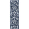 Disa Vintage Medallion Dark Blue Soft Rug By Chill Rugs