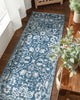 Disa Vintage Medallion Light Blue Soft Rug By Chill Rugs
